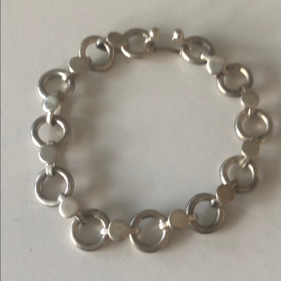 Chan Luu Grey Simulated Pearl Beaded Dainty Goldtone Charm Bracelet Adjustable